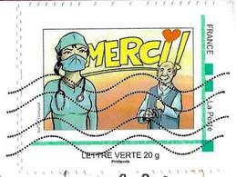 France  (2020)  MonTimbraMoi MTM : COVID Merci Aux Soignants Et Aux Aidants. Infirmière / Nurse.. - Personalisiert (MonTimbraMoi)