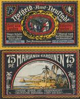 Neustadt Notgeld: 961.2 F) Picture 4 Marianem Instead Marianas Misprint Uncirculated 1922 75 Pfennig Neustadt Office - Austria