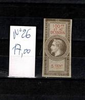 DT153B FRANCE FISCAL FISCAUX REVENUE REVENUES 1 TP NEUF EFFET COMMERCE NAPOLEON III - Revenue Stamps