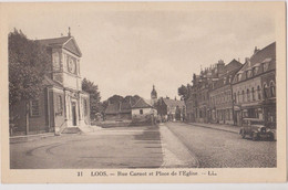 CPA Loos Lez Lille Rue Carnot - Loos Les Lille
