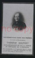 CERFONTAINE  Térèse SOUPART - Obituary Notices