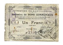 1914-1918 // COMMUNE De BANTOUZELLE (59 Nord) // Juin 1915 // Bon De Un Franc - Bonds & Basic Needs