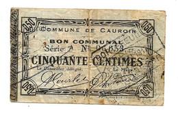 1914-1918 // COMMUNE De CAUROIR (59 Nord) // Décembre 1915 // Bon De Cinquante Centimes - Bonds & Basic Needs