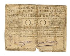 1914-1918 // COMMUNE De FENAIN (59 Nord) // Emission 1914 // Bon De Cinquante Centimes - Bonds & Basic Needs