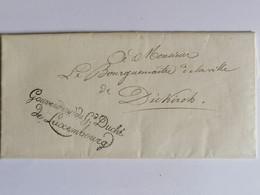 Grand Duché Du Luxembourg- Entier Postal Pour Le Bourgmestre De La Ville De Diekirch Datée Du 04.10.1824. Bon état Génér - ...-1852 Voorfilatelie