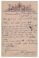 SUISSE - RARE - GENEVE - GRAZ AMREIN & CIE - 1895 - GE Geneva