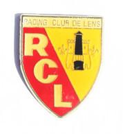 Pin's RCL - Racing Club De Lens - Le Blason - Lampe De Mineur Et Tour - K042 - Calcio