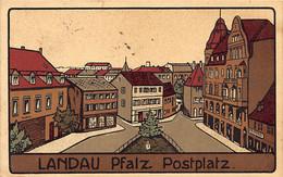 Landau (RP) Postplatz Verlag Aug. Graf, K. Hoflieferant, Landau - Landau