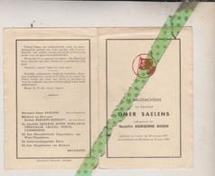 Omer Saelens-Sioen, Lauwe 1897, Rekkem 1965. Schepen, Gemeente En Provincieraadslid; Foto - Obituary Notices