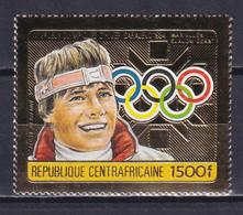 CENTRAL AFRICA 1984, Mi# 1069A, Perf, Golden Foil, Olympics Sarajevo, MNH - Winter 1984: Sarajevo
