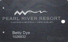 Pearl River Resort Casinos Choctaw, MS Slot Card - PG Over Mag Stripe - Casinokarten