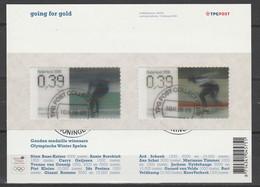 Nederland NVPH 2415-16 Vel Going For Gold 2006 Used Gestempeld Groningen Schaatsen Iceskating - Used Stamps