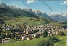 CARTOLINA  MOENA M.1184,TRENTO,TRENTINO ALTO ADIGE,PANORAMA CON LE DOLOMITI DEL CATINACCIO E SASSOLUNGO,VIAGGIATA 1966 - Trento