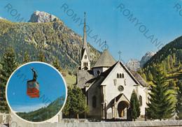 CARTOLINA  MOENA M.1200,TRENTO,TRENTINO ALTO ADIGEVAL DI FASSA,CHIESA DI S.VIRGILIO,FUNIVIA DEL LUSIA,VIAGGIATA 1977 - Trento