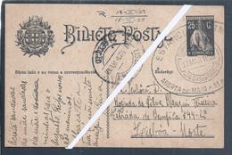 Rare Postal Stationery Stamp 25C Circulated 1929.Termas Caldas Da Rainha. Thermale Baden. Hydrotherapy. Bäder. Baths - Termalismo