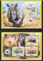 Gabon, 2019. [gab1905] Rhino (s\s+block) - Rhinoceros