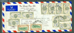 New Zealand Twelve Stamps Aircraft Centenary Of Otago Gisborne To Canada 194? A04s - Covers & Documents