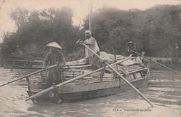 CPA ASIE VIÊT-NAM  N° 342 Transport Du Maïs Bateau Barque Paysan  2 Scans - Vietnam