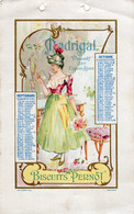S5895 Feuille Calendrier Biscuits Pernot - Madrigal - Unclassified