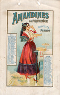 S5898 Feuille Calendrier Biscuits Pernot - Amandines De Provence - Unclassified