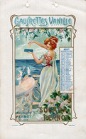 S5899 Feuille Calendrier Biscuits Pernot -  Gaufrettes Vanille - Unclassified