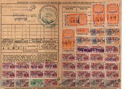 Lot De 5 Cartes De Quittance TIMBRES FISCAUX / SOCIO-POSTAUX / ALSACE LORRAINE / 13 Semaines / Dreizehn Wochen - Revenue Stamps
