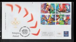 Poland FDC 2000 Sydney Olympic Games (LD41) - Summer 2000: Sydney