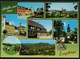 F3935 - Schneeberg Lößnitz Zwönitz Lauter Bockau Schlema - Bild Und Heimat Reichenbach Qualitätskarte - Unclassified