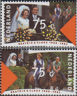 Netherlands 1400-1401 (complete Issue) Unmounted Mint / Never Hinged 1991 Royal Couple - Unused Stamps