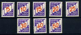 Liechtenstein (Tasas) Nº 13/20. Año 1928 - Taxe