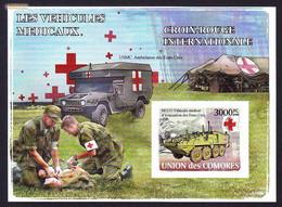 Red Cross / Croix Rouge - Les Vehicules Medicaux, Comores 2008 / Imperf. - MNH - Primeros Auxilios