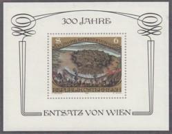 ÖSTERREICH  Block 6, Postfrisch **, 300. Jahrestag Des Sieges über Die Türken Am Kahlenberg Bei Wien 1983 - Blocs & Hojas