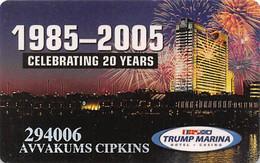 Trump Marina Casino Atlantic City NJ Slot Card - Casinokarten
