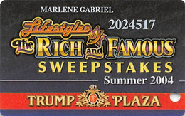 Trump Plaza Casino Atlantic City NJ Slot Card - Casinokarten