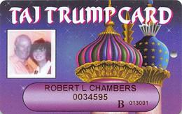 Trump Taj Mahal Casino Atlantic City NJ - Slot Card With Player Photo - Casinokarten