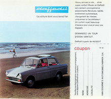 Publicité Papier VOITURE DAF DAFFODIL Mai 1965 P1030269 - Werbung