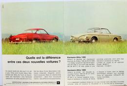 Publicité Papier Voiture Karmann Ghia  Octobre 1965 P1014663 - 2 Pages - Werbung