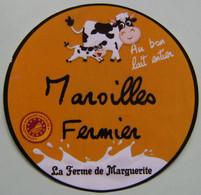 Etiquette Fromage - Maroilles Fermier AOP - Ferme De Marguerite 59 Thiérache - Nord   A Voir ! - Cheese
