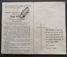 JUUL ADAMI ° MEERHOUT 1920 + LUIK 1952 / MARIA OEYEN - Devotion Images