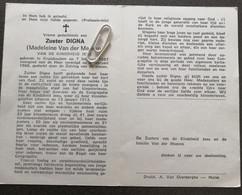 EERW. ZUSTER DIGNA / MADELEINE VAN DER MEEREN ° KRUISHOUTEM 1887 + 1968 / KINDSHEID JESU - Devotion Images