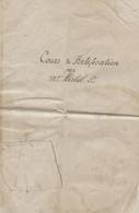 Manuscrit,cours De Fortification, Fortification élémentaire Passagère, Hirbel,croquis, Talus, Bstion,10 Pages, Avant 191 - Other