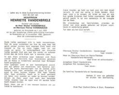 Henriette Vandenbriele (1932-1980) - Devotion Images
