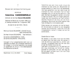 Valentine Vandenbriele (1906-1992) - Devotion Images