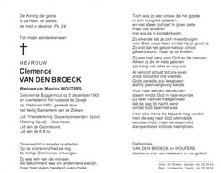 Clemence Van Den Broeck (1905-1992) - Devotion Images