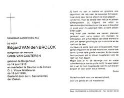 Edgard Van Den Broeck (1913-1990) - Devotion Images