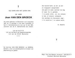 Jean Van Den Broeck (1921-1991) - Devotion Images