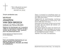 Josephina Van Den Broeck (1899-1987) - Devotion Images