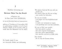 Maria Van Den Broeck (1909-1990) - Devotion Images