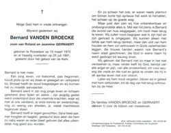 Bernard Vanden Broecke (1970-1991) - Devotion Images