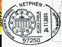 12834) BRD -  ✉ PSo 778 II Codiert, So-⨀ 57250 Nethpen Vom 24.11.2001 -  €uro-Phila Tag Der Briefmarke - Cartoline - Usati